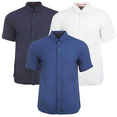 New Mens Tokyo Laundry Womack Short Sleeve Button Collared Shirt Top Size S-XL