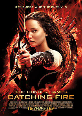 The Hunger Games Catching Fire Repro Film Poster