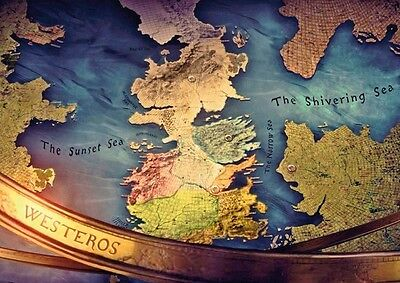 Westeros Map Game of Thrones POSTER