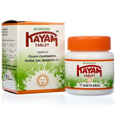 Kayam Tablets | Useful in Chronic Constipation, Acidity, Gas | 30 tablets