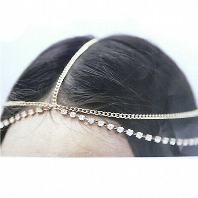 Fashion Head Jewellery Women Hair Chain Headpiece Alloy Chain Ladies Headdress