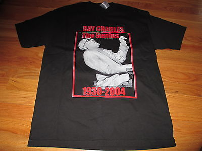 """(1930-2004) RAY CHARLES """"THE GENIUS"""" (LARGE) T-Shirt"""