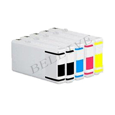 KIT 5 Cartucce per EPSON WORKFORCE PRO WP 4025DW 4525DNF 4545DTWF 4095DN