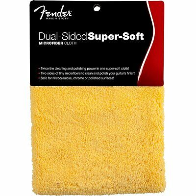 Fender Dual Sided Microfiber Cloth Chiffon de polissage pour guitare et basse