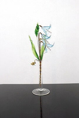 Bluebells Crystal Glass Flowers With Vase Cute Bedroom Decoration New Design Hot