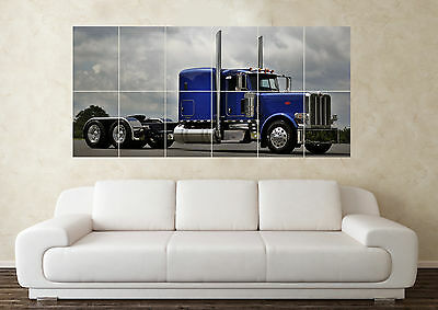 Large Peterbilt Truck Lorry (3) Wall Poster Art Picture Print