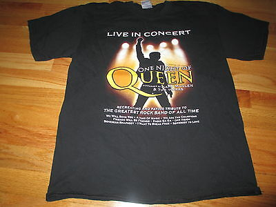 """2008 ONE NIGHT of QUEEN """"Live in Concert"""" (MED) T-Shirt GARY MULLEN & THE WORKS"""