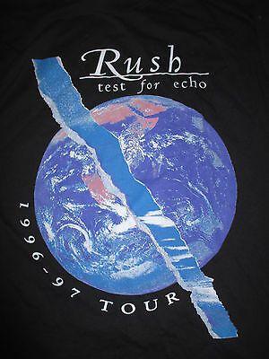 "1996-97 RUSH ""Test for ECHO"" Tour Concert (XL) T-Shirt"