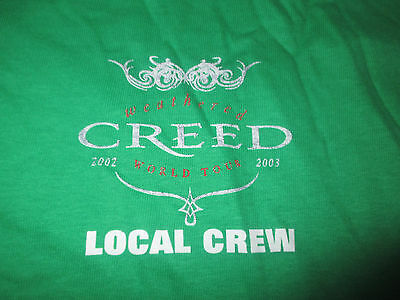 """2003 CREED - WEATHERED - BULLETS"""" Local CREW Concert Tour (LG) T-Shirt"""