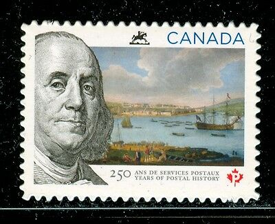 Canada #2649i 2013 250 Years of Postal History Die Cut Benjamin Franklin MNH