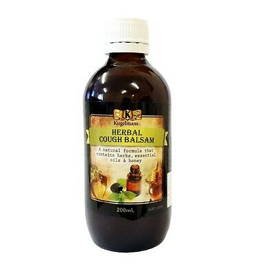 Kugelmans Herbal Cough Balsam 200ml ~ Premium Herb Medicine ~ 100yr Formula