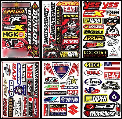 6 Rockstar Energy Decal Sticker Graphic Kits Motocross Motorcycles MOTO GP Logo