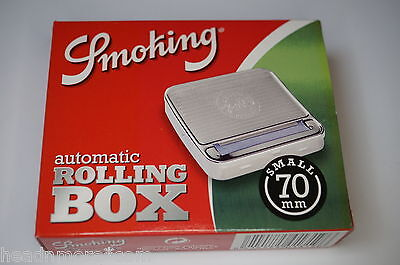 SMOKING Metall Automatic Rolling Box 70mm Rollbox  Zigaretten Tabak Drehmaschine