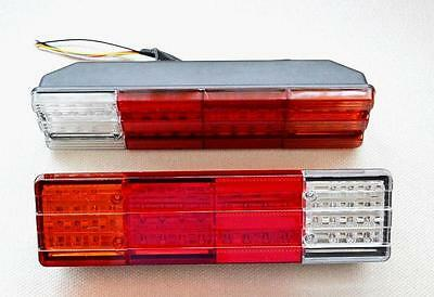 TAIL REAR 2 psc LED LIGHTS LAMPS 24 VOLTS for TRUCK LORRY TRAILER TIPPER CHASSIS
