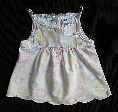 Baby clothes GIRL 3-6m TU white/pink TU cotton dress sleeveless SEE MY SHOP!