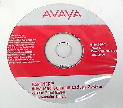 Avaya PARTNER Advanced Communications System Release 7 and Earlier Issue 6