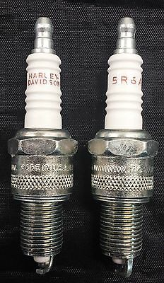 2 New OEM Harley Davidson  Spark Plugs   5R6A