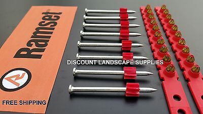 GFS - RAMSET Comp - 500 x RED CHARGES + 500 x 62mm SINGLE SHOT NAILS / PINS