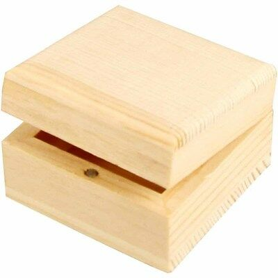 Plain Wooden Jewellery Gift Box - Magnetic Closure - Decorate Personalise Paint