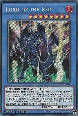 YU-GI-OH CARD: LORD OF THE RED - SECRET RARE - DRL2-EN016 - 1st EDITION
