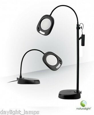 Naturalight 2 in 1 Magnifying Lamp Mains or Battery 2x Magnification