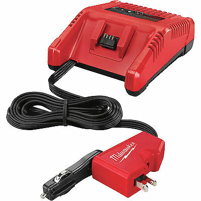 18 Volt M18 AC/DC Vehicle and Wall Charger Milwaukee 2710-20 New