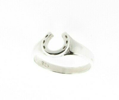 Sterling Silver Horseshoe Design Ring - Hand Finished  Made in the UK RRP £29.99