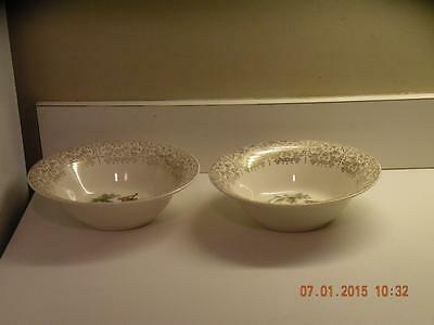 (2) American Limoges Triumph bowls China D'or 1T-S284 22k Gold mandolin player