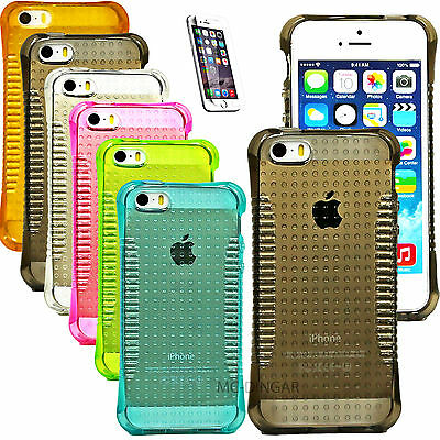 Thin Slim Transparent Crystal Clear Armor Hybrid Case Cover For Iphone 5 5S Se