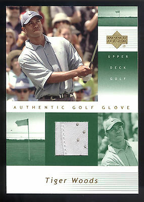 2002 Upper Deck #TW-G Tiger Woods Authentic Golf Glove Relic Card