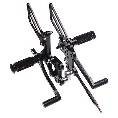 CNC Adjustable Rearsets Footrests Foot Pegs For Suzuki GSXR 600 750 1000 SV650/S
