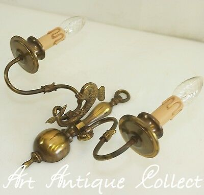 Antique Wall Lamp Brass Baroque Style Fish Led Wall Light Old Lamp
