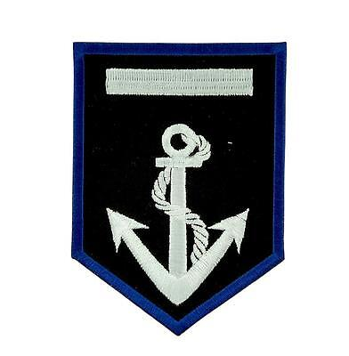 Patch ecusson brodé drapeau backpack ancre marine bâteau blason thermocollant