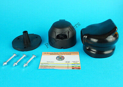 7 Pin Trailer Towing Socket 12N with Gasket & Bolts & Socket Cover
