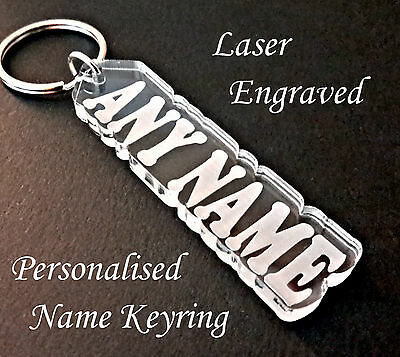 Personalised Named Keyring - Laser cut and engraved - Great little gift