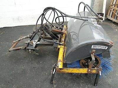 """Sweepster AS4 60"""" Hydraulic Angle Lot Sweeper Broom Fits 3 Point Hitch Tractor"""