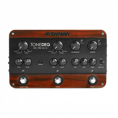 Fishman PRO-DEQ-AFX Preamp, EQ & DI Pedal w/ Dual Effects with FREE Power Pack