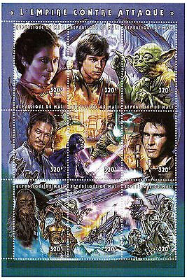 Mali Stamps 1997 Star Wars The Empire Strikes Back Yoda / MNH