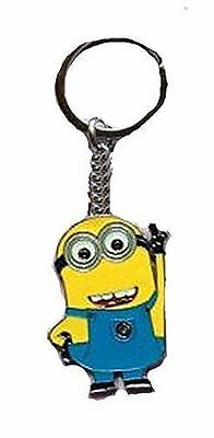 """Despicable Me """"Minion"""" Waving on a Silver Plated Key Chain"""