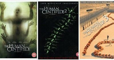 THE HUMAN CENTIPEDE 1-3 SEALED/NEW dvds  (First,Full + Final Sequence + Third)
