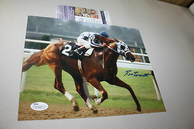 Ron Turcotte Signed 8x10 Secretariat 1973 Belmont Stakes Photo JSA