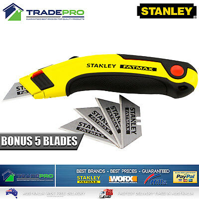 Genuine Stanley® Fatmax Retractable Ultility Knife with 5 Blades Quality 10-778