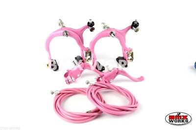 Genuine New Release Dia-Compe MX883 - MX123 BMX Brake Kit in Freestyle Pink