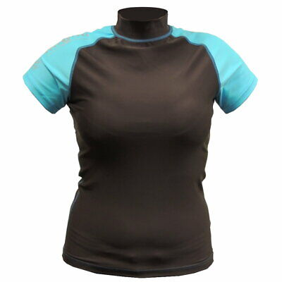 Aqualung Rash Guard Damen Lycra braun/türkis