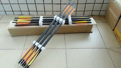 12pcs 20 inches pure carbon crossbow arrow bolts straightness :+/-0.006