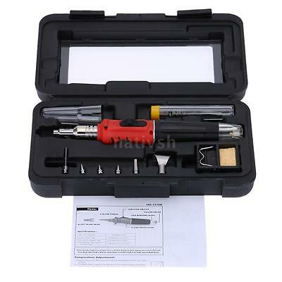 HS-1115K Professional Butane Gas Soldering Iron Kit Welding Kit Torch with Case