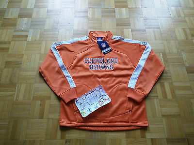 NWT Cleveland Browns NFL Reebok Tactical 1/4 Zip Bonded Pullover Jacket Men M