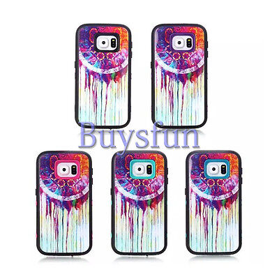 Dream Catcher Dual Layer Hot Pink Rugged Cover Case For Samsung Galaxy S6
