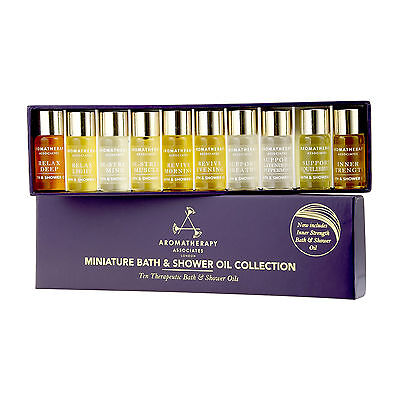 Aromatherapy Associates Miniature Bath & Shower Oil Collection 10x3ml NEW #14583