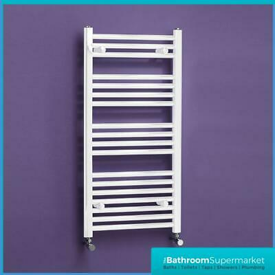 300mm White Radiator Straight Heated Bathroom Towel Rail Rad Radiator